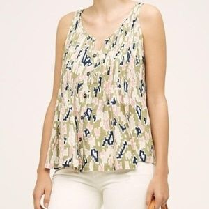Anthropologie Maeve Saona Pintuck Tank Top 2